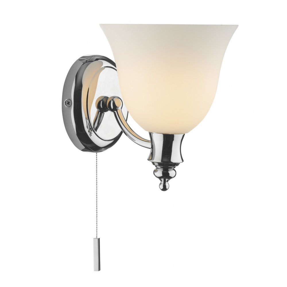 Traditional Bathroom Wall Lamps : Traditional Victorian Period Chrome Wall Light Double Insulated.