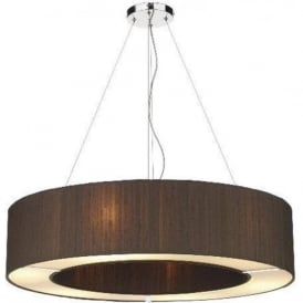 POLO circular nutmeg brown silk ceiling pendant