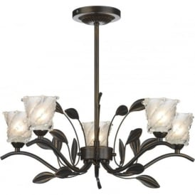 PRUNELLA bronze cottage style ceiling light for low ceilings