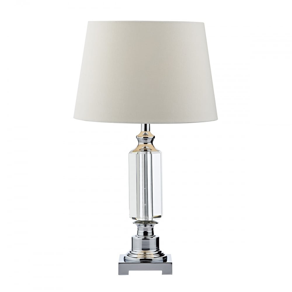 elegant traditional table lamp crystal and chrome base