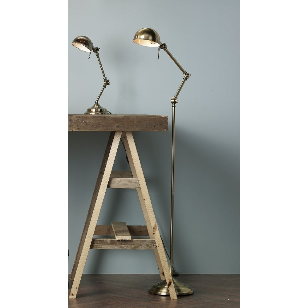 Adjustable angled desk lamp in antique brass and classic retro styling ranger antique brass adjustable desk or reading lamp aloadofball Image collections