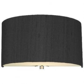 RENOIR black silk semi-circular wall light