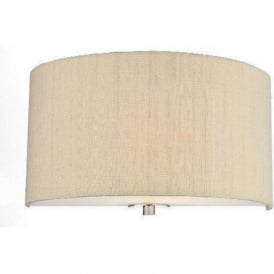 RENOIR semi-circular wall light sea mist gold silk shade
