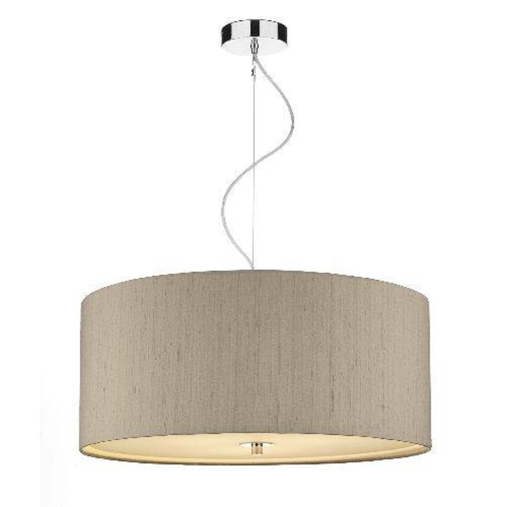 cambridge lighting renoir taupe silk ceiling pendant light shade