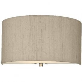 RENOIR wall light semi-circular taupe silk shade