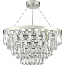 SCEPTRE contemporary chandelier style ceiling light with cascading glass pebbles