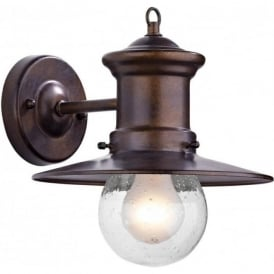 SEDGEWICK traditional exterior wall lantern, bronze finish