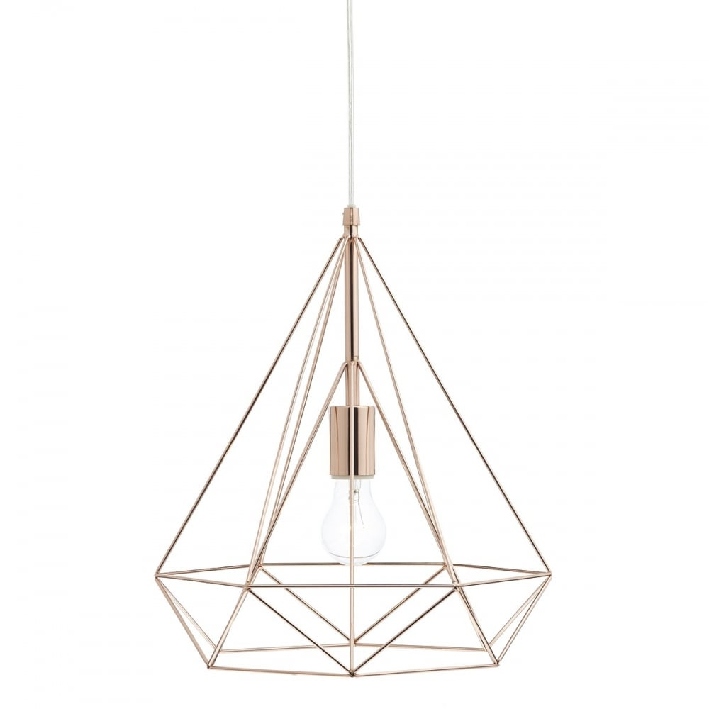 contemporary copper wire frame ceiling pendant double insulat