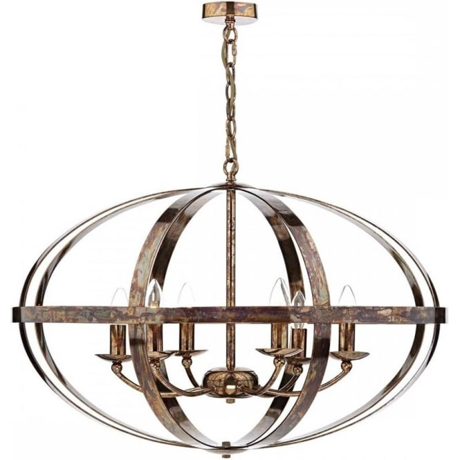 Large open copper frame ceiling light in updated medieval styling symbol large open frame copper ceiling pendant light aloadofball Gallery