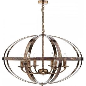 SYMBOL large open frame copper ceiling pendant light