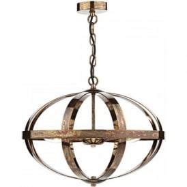 SYMBOL open frame copper ceiling pendant light