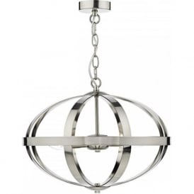 SYMBOL open frame satin chrome ceiling pendant light