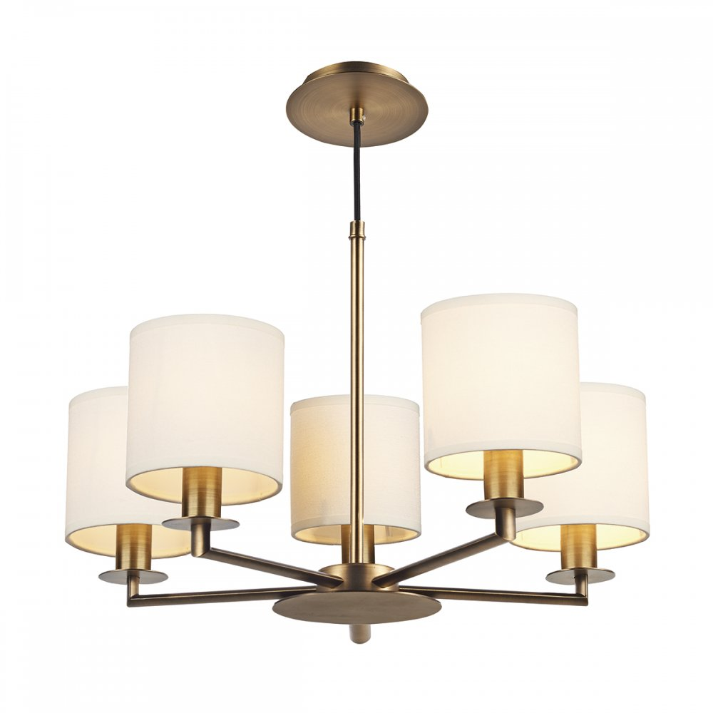 Bronze Ceiling Light In Mid Century Design With Cream