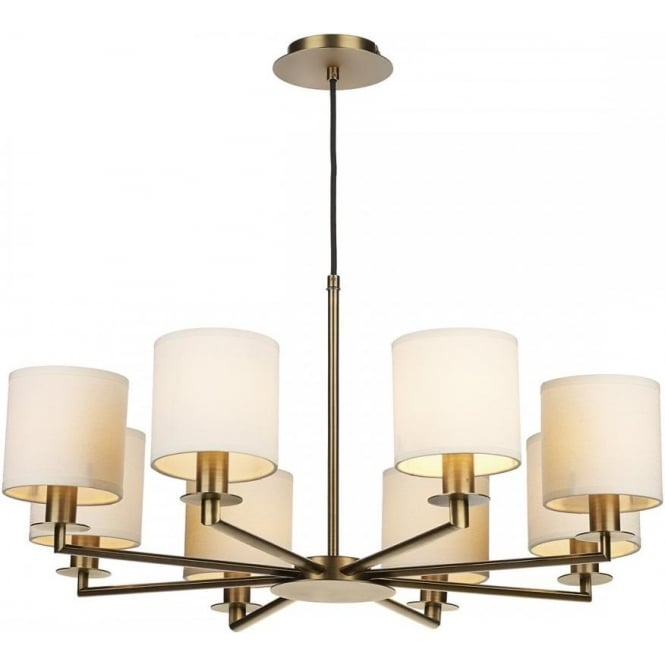 Cream Ceiling Fan Chandelier: Mid-Century Ceiling Pendant Light In Rustic Bronze With