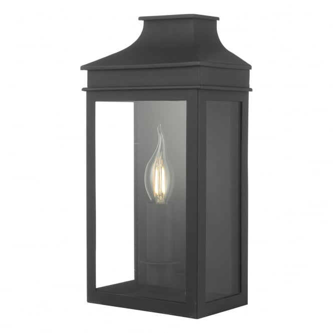 Cambridge Lighting VAPOUR traditional flush fit outdoor coach lantern - small, black