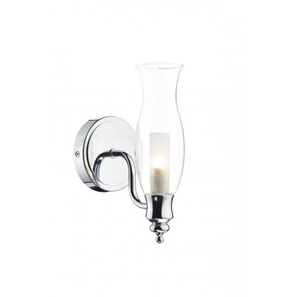 Oil lamp style bathroom wall light fitting with ip44 rating for Traditional bathroom wall lights