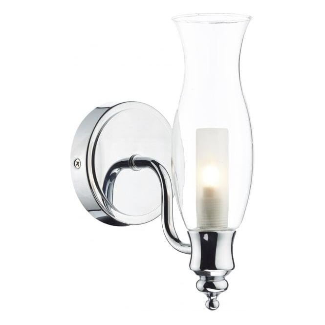 Cambridge Lighting VESTRY traditional oil lamp style bathroom wall light - chrome
