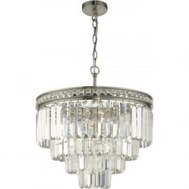VYANA modern Deco style crystal waterfall chandelier