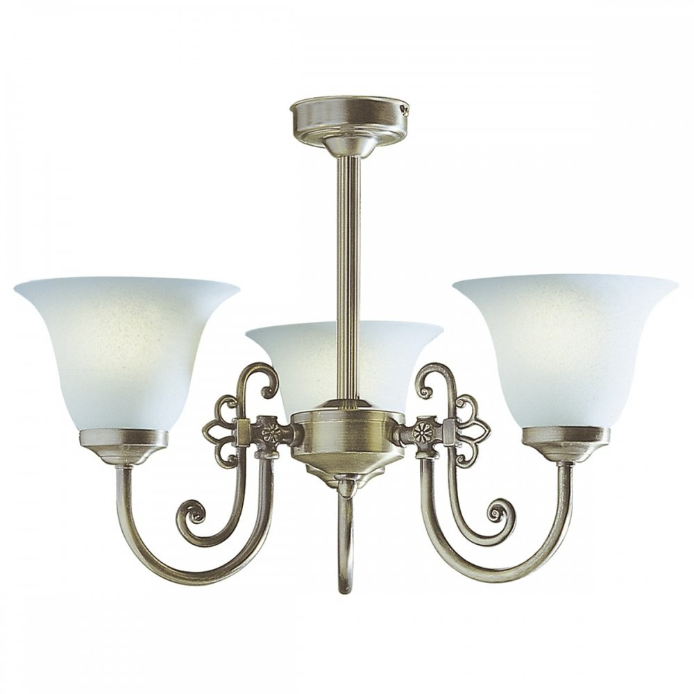 Traditional Antique Brass Light For Low Ceilings With