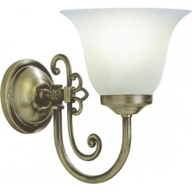 WOODSTOCK Victorian style single wall light with glass shade