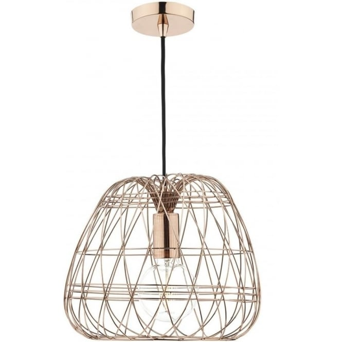 Cambridge lighting for pubs bars and restaurants woven ceiling pendant light with open copper wire frame keyboard keysfo Images