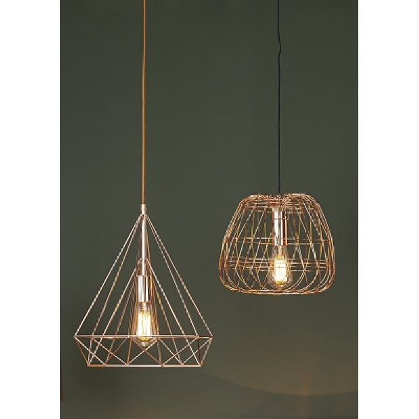 Ceiling Lights How To Open : Contemporary ceiling pendant light with geometric copper