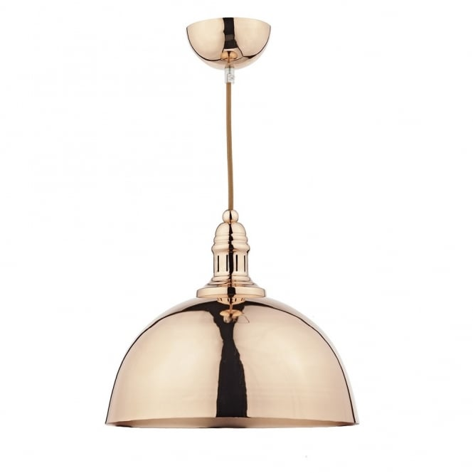 Cambridge Lighting YOKO double insulated copper ceiling pendant light with vintage braid cable