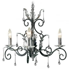 AMARILLI 3 light dual mount traditional chandelier - black/silver