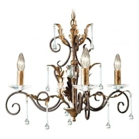 AMARILLI 3 light dual mount traditional chandelier - bronze/gold