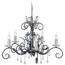 AMARILLI 5 light traditional chandelier - black/silver