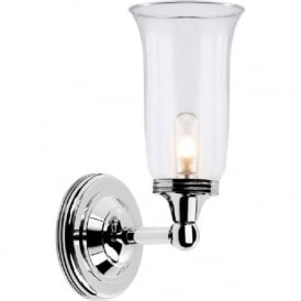 AUSTEN traditional IP44 nickel bathroom wall light