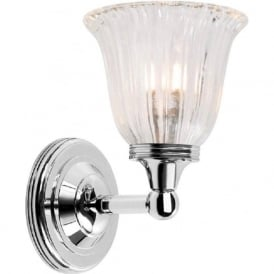 AUSTEN traditional IP44 polished nickel bathroom wall light