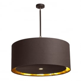 BALANCE modern brown ceiling pendant light with brass detailing - xlarge