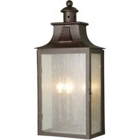 BALMORAL traditional wrought iron outdoor wall lantern