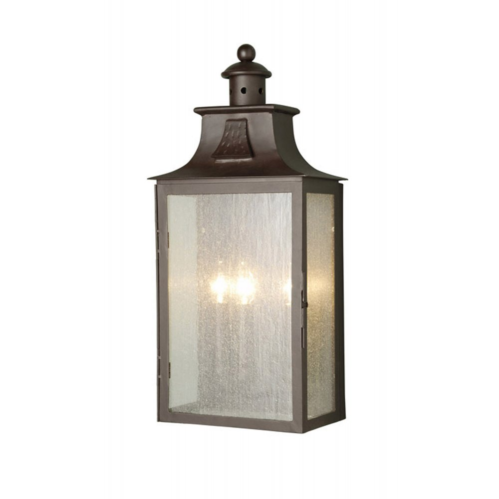 Large Medieval Style Wrought Iron Outdoor Lantern In Old