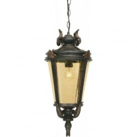 BALTIMORE bronze hanging porch lantern (medium)