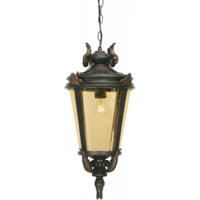 Chester Collection BALTIMORE bronze traditional hanging porch lantern (large)