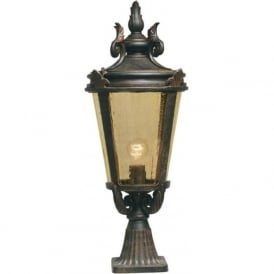 BALTIMORE traditional bronze finish pedestal post light (large)