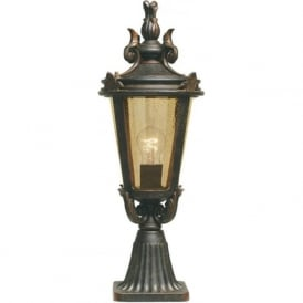 BALTIMORE traditional bronze finish pedestal post light (medium)
