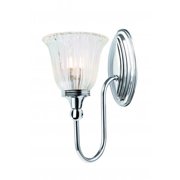 Character bathroom wall light single upward facing light for Traditional bathroom wall lights