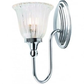 BLAKE traditional chrome bathroom wall light, IP44