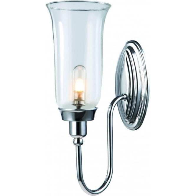 Blake traditional bathroom wall light with storm glass for Traditional bathroom wall lights