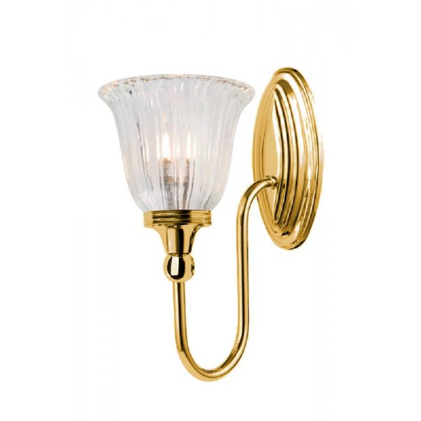 Traditional brass gold bathroom wall light frosted glass for Gold bathroom wall lights