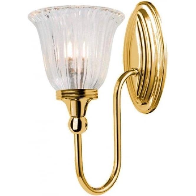 Traditional brass gold bathroom wall light frosted glass shade blake traditional gold bathroom wall light ip44 aloadofball Image collections