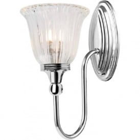 BLAKE traditional nickel bathroom wall light, IP44