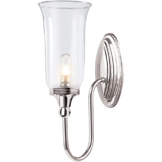 Chester Collection BLAKE traditional nickel bathroom wall light, IP44