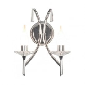 BRIGHTWELL double bathroom wall light, traditional chrome finish