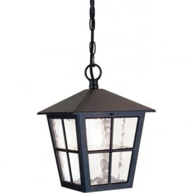CANTERBURY traditional black porch hanging lantern