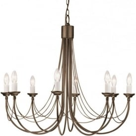 CARISBROOKE 8 light Gothic style chandelier - black/gold