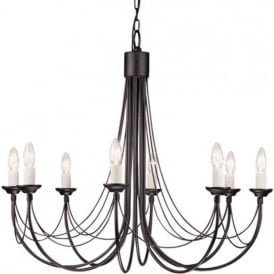 CARISBROOKE 8 light Gothic style chandelier - black